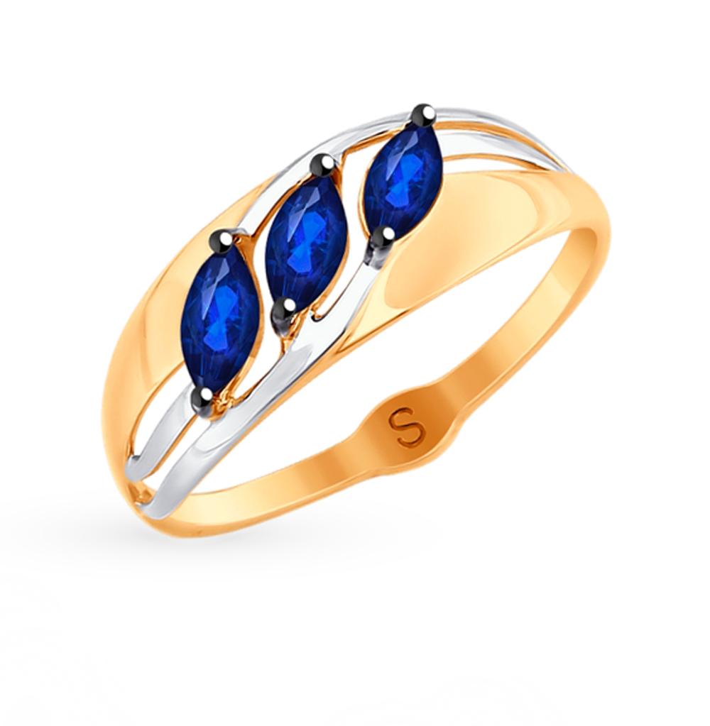 Фото «Золотое кольцо с фианитами SOKOLOV 018029»