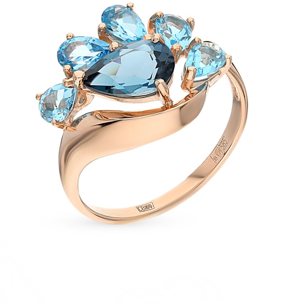 золотое кольцо с топазами SOKOLOV 714555*