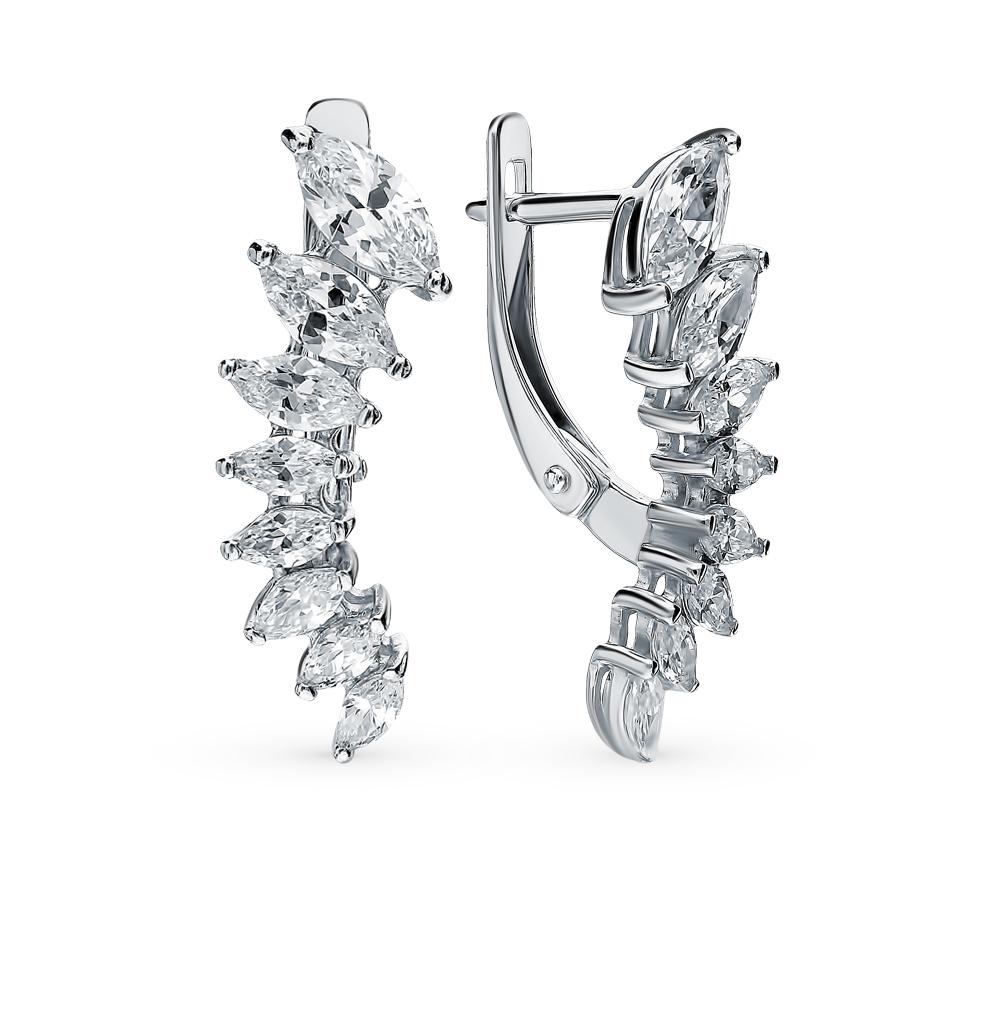 серебряные серьги с фианитами SOKOLOV 94021352