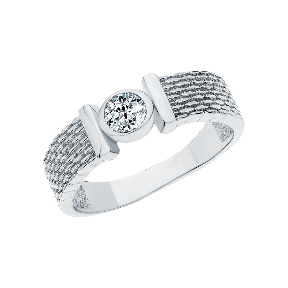 Серебряное кольцо с фианитами SUNLIGHT: белое серебро 925 пробы, фианит — купить в интернет-магазине Санлайт, фото, артикул 234594