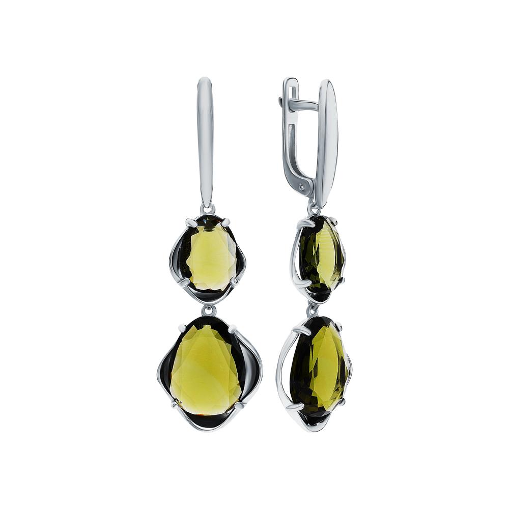 Фото «Серебряные серьги с ювелирными стёклами»