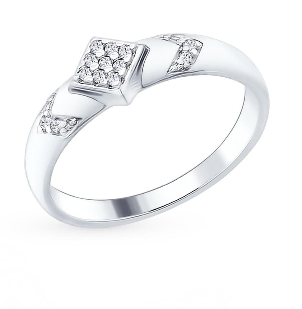 серебряное кольцо с фианитами SOKOLOV 94012212