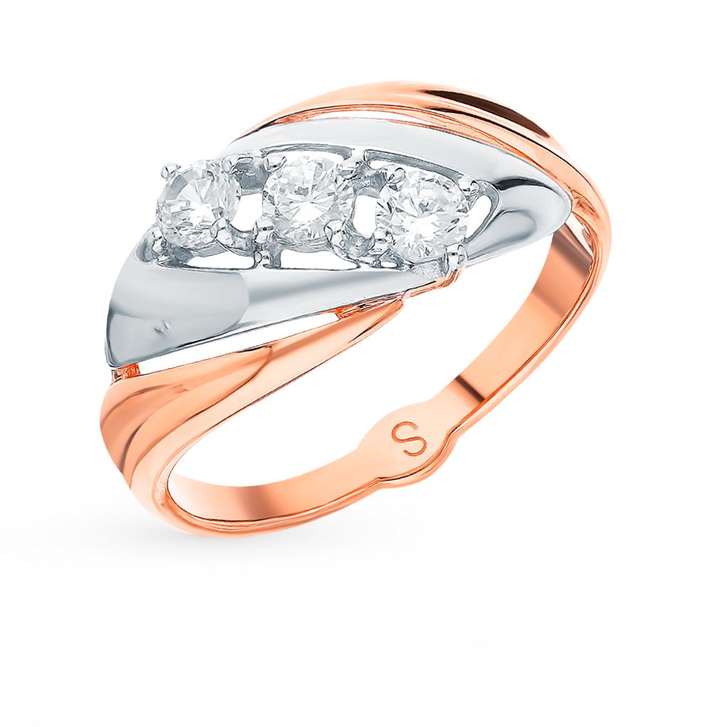 Золотое кольцо с фианитами SOKOLOV 017994* в Екатеринбурге