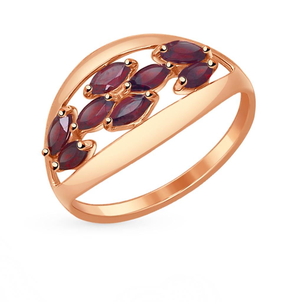 золотое кольцо с гранатом SOKOLOV 714544*
