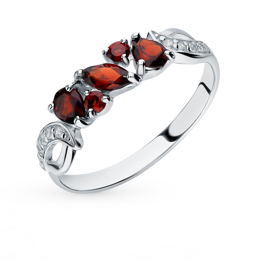 серебряное кольцо с кубическими циркониями SOKOLOV 92011594