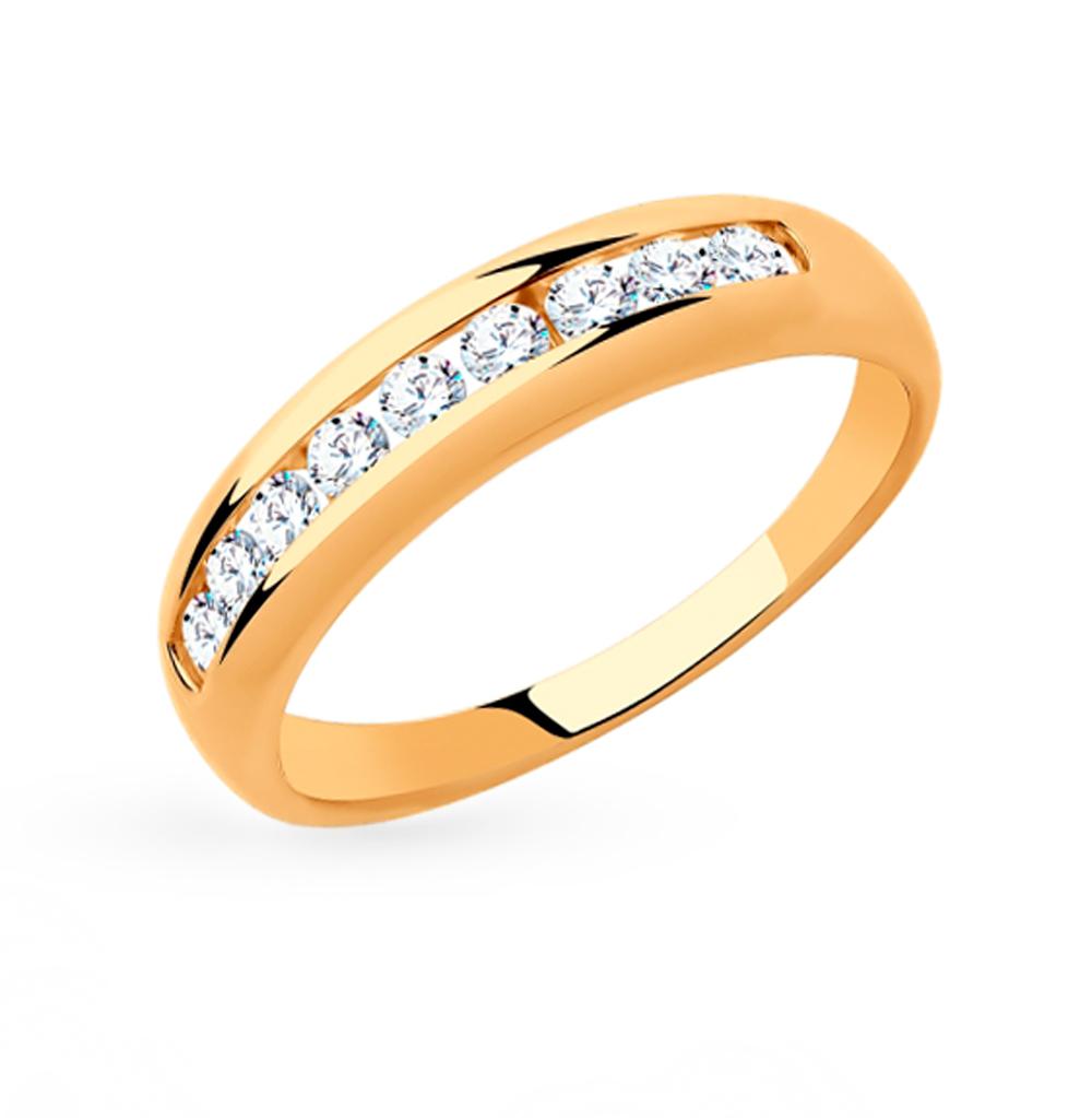Фото «Золотое кольцо с фианитами SOKOLOV 018319»