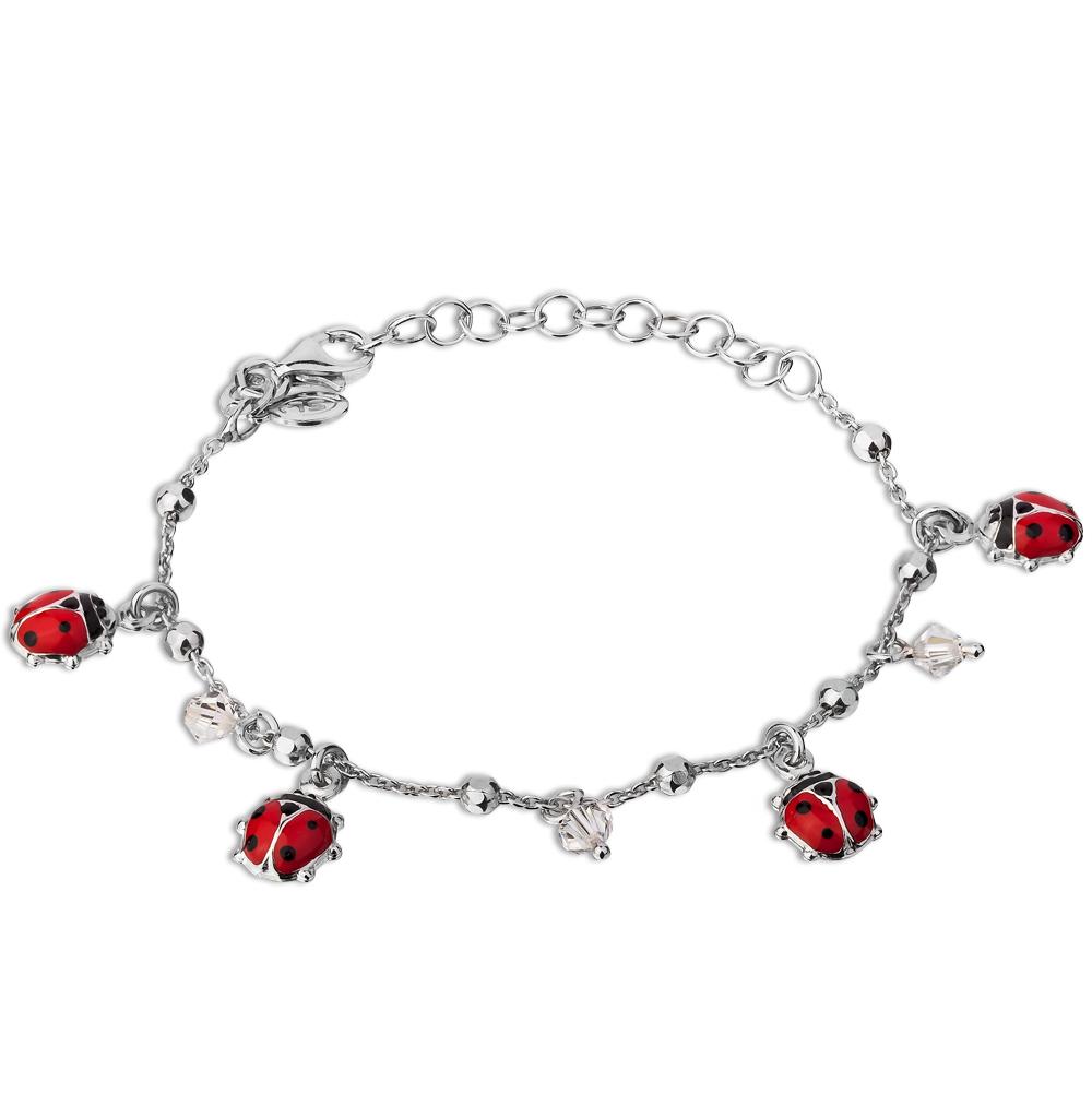 Фото «серебряный браслет с эмалью и кристаллами swarovski»