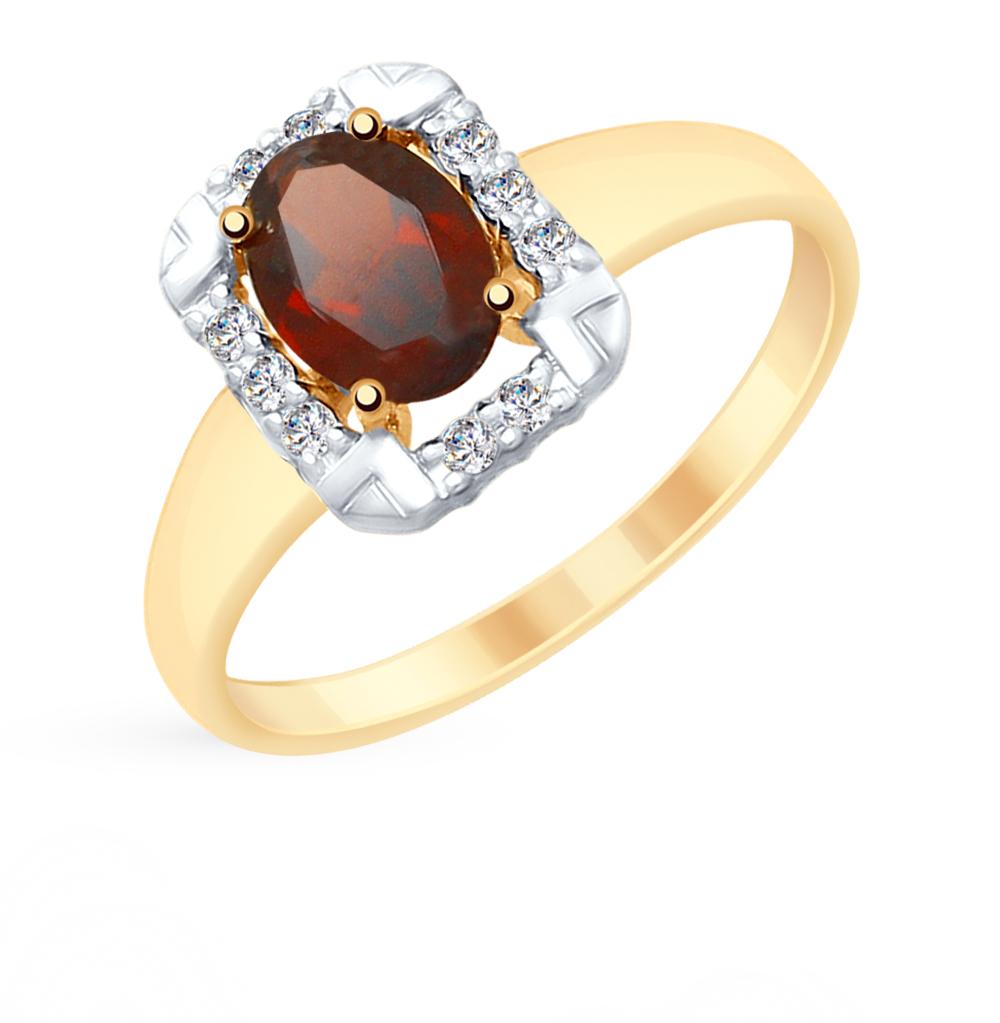 Золотое кольцо с гранатом SOKOLOV 715302* в Екатеринбурге