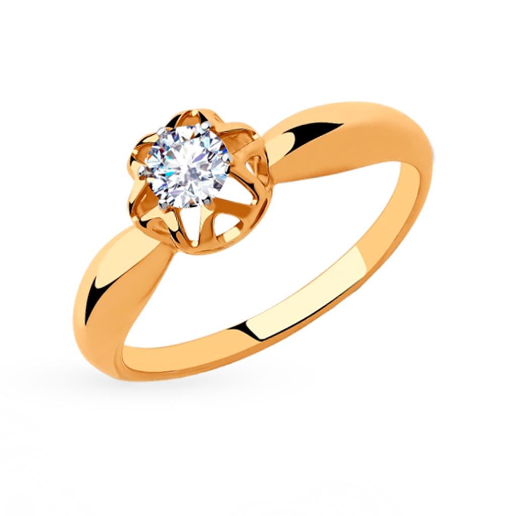 Золотое кольцо с фианитами SOKOLOV 018275 в Екатеринбурге