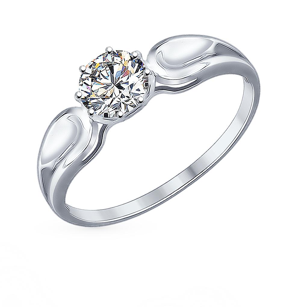 серебряное кольцо с фианитами SOKOLOV 94012115