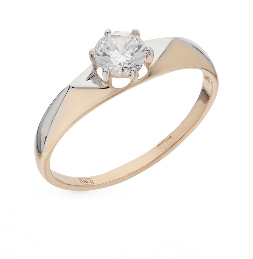 Фото «Золотое кольцо с фианитами SOKOLOV 017359*»