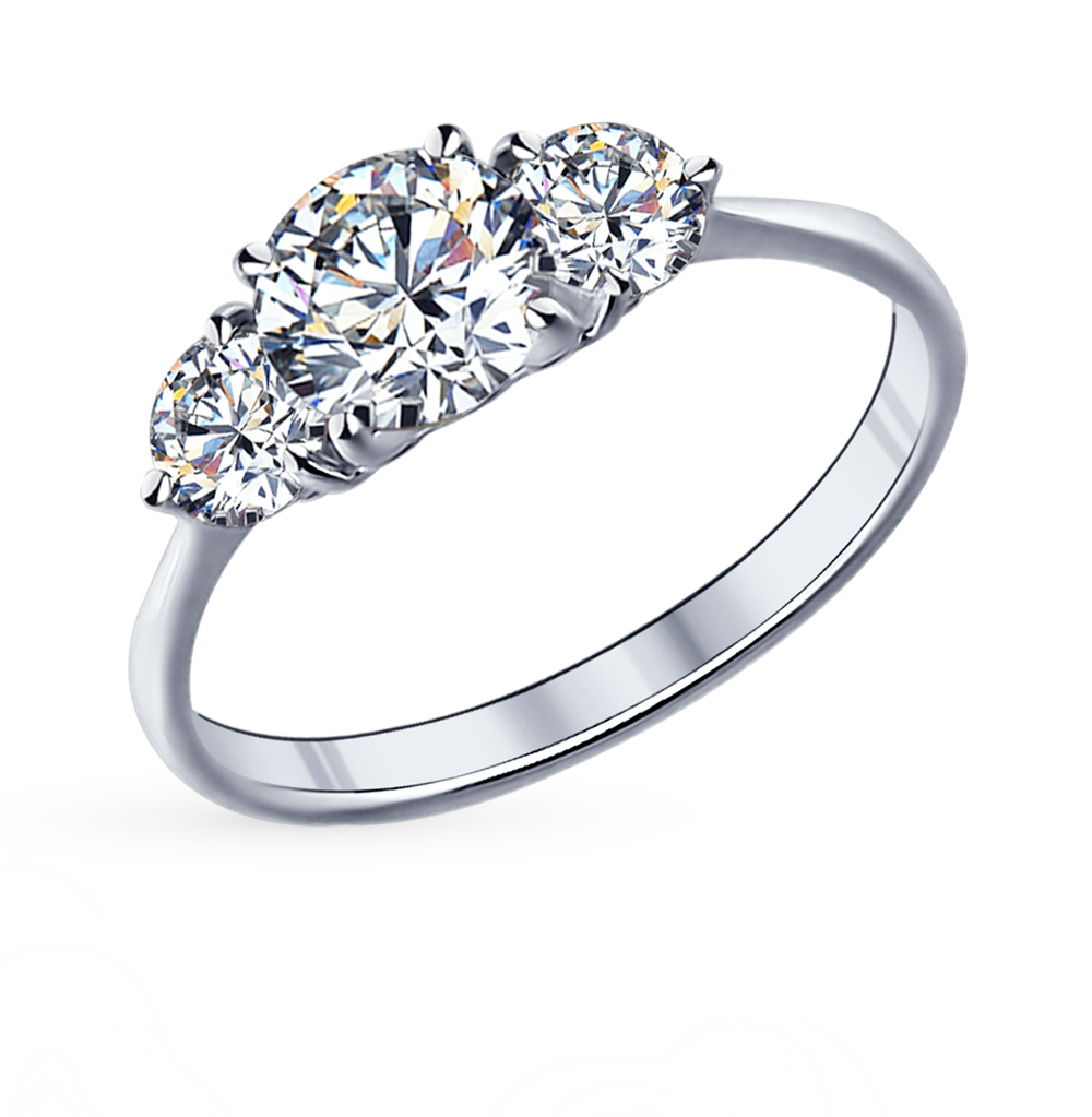 Фото «Серебряное кольцо с фианитами SOKOLOV 89010004»