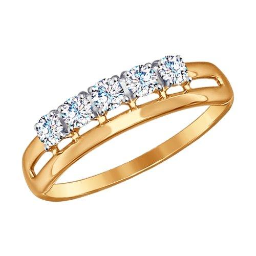 Фото «Золотое кольцо с фианитами SOKOLOV 017170*»