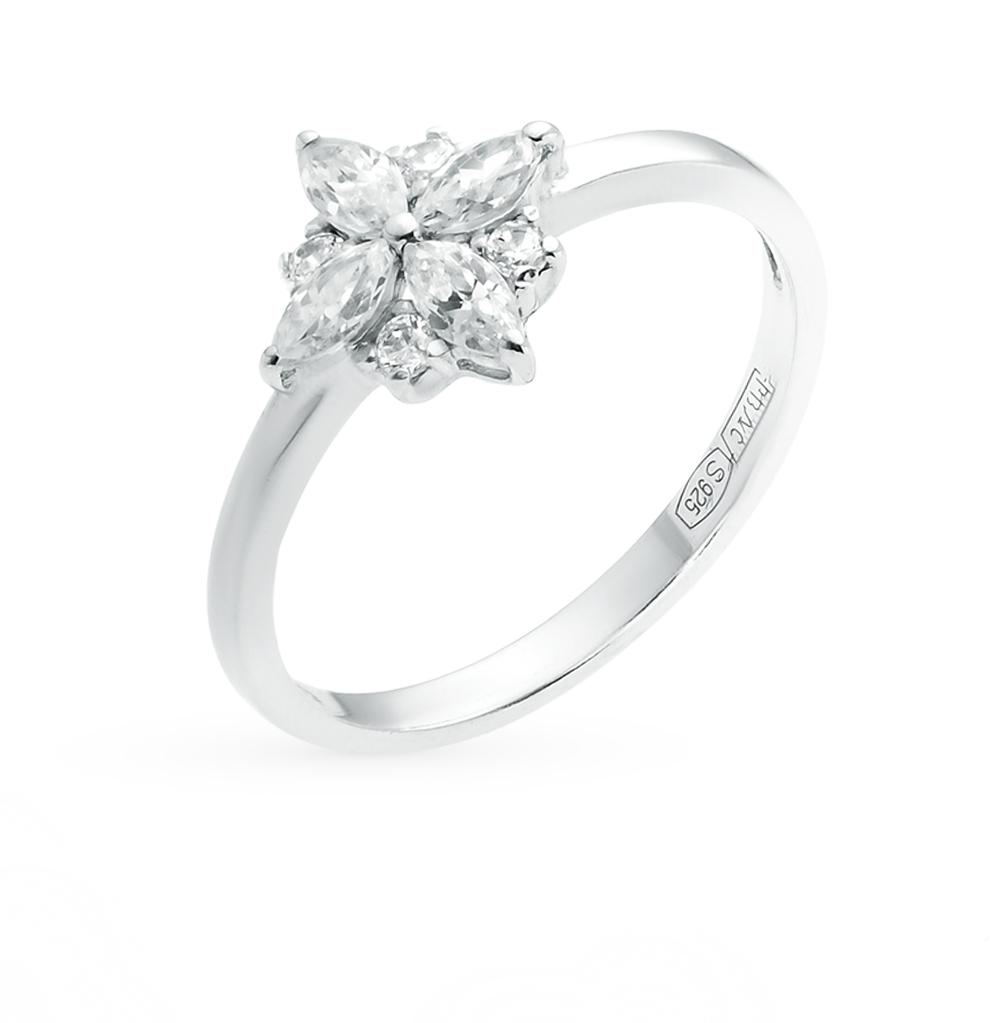 серебряное кольцо с фианитами SOKOLOV 94011797