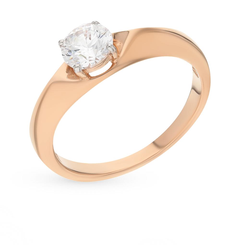 Фото «Золотое кольцо с фианитами SOKOLOV 81010216*»