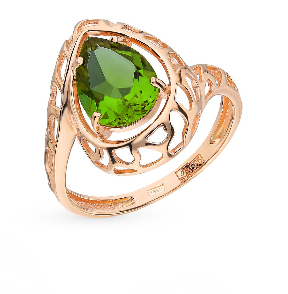 золотое кольцо с султанитами