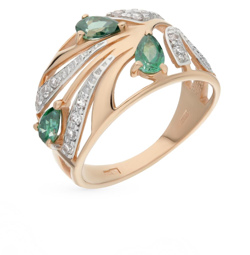 Фото «Золотое кольцо с фианитами SOKOLOV 015419*»