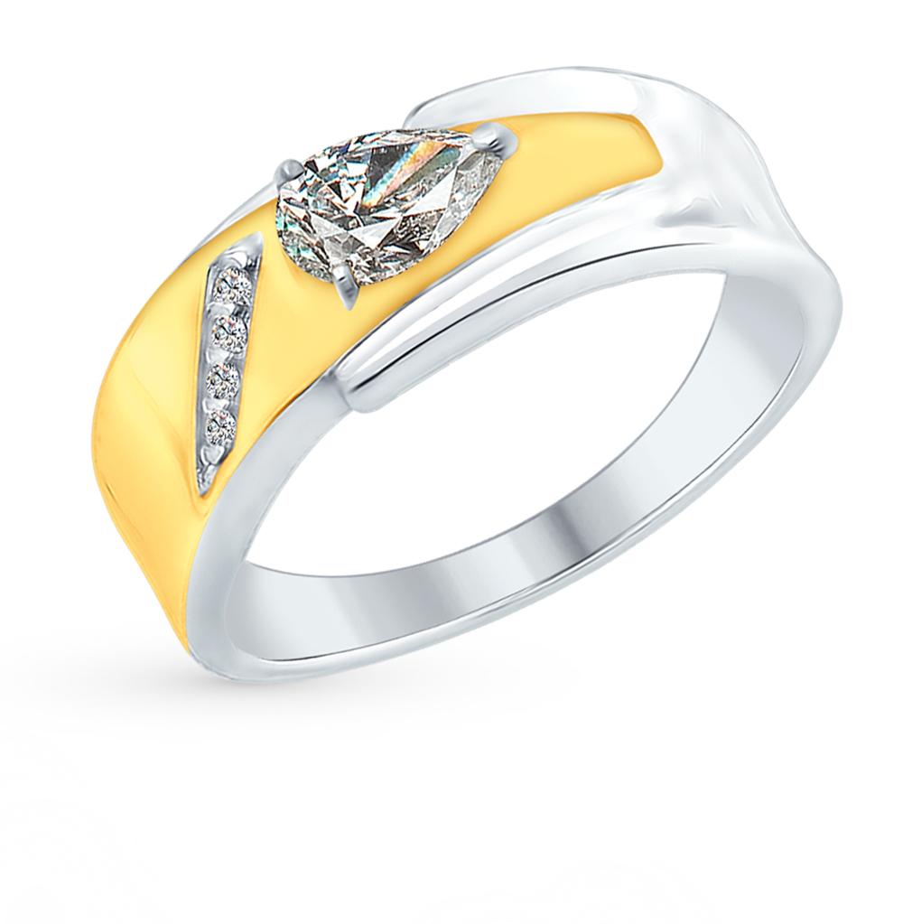 серебряное кольцо с фианитами SOKOLOV 94012384