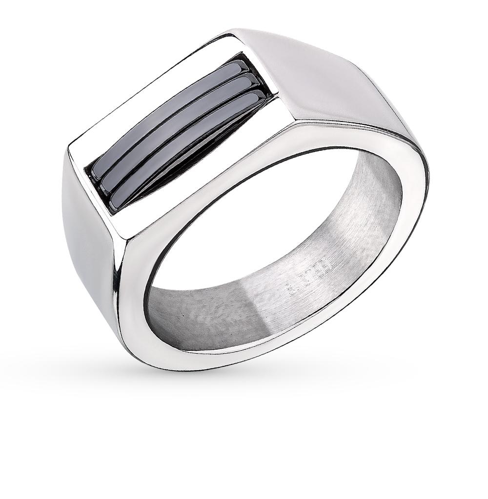 Фото «кольцо из стали с керамикой»