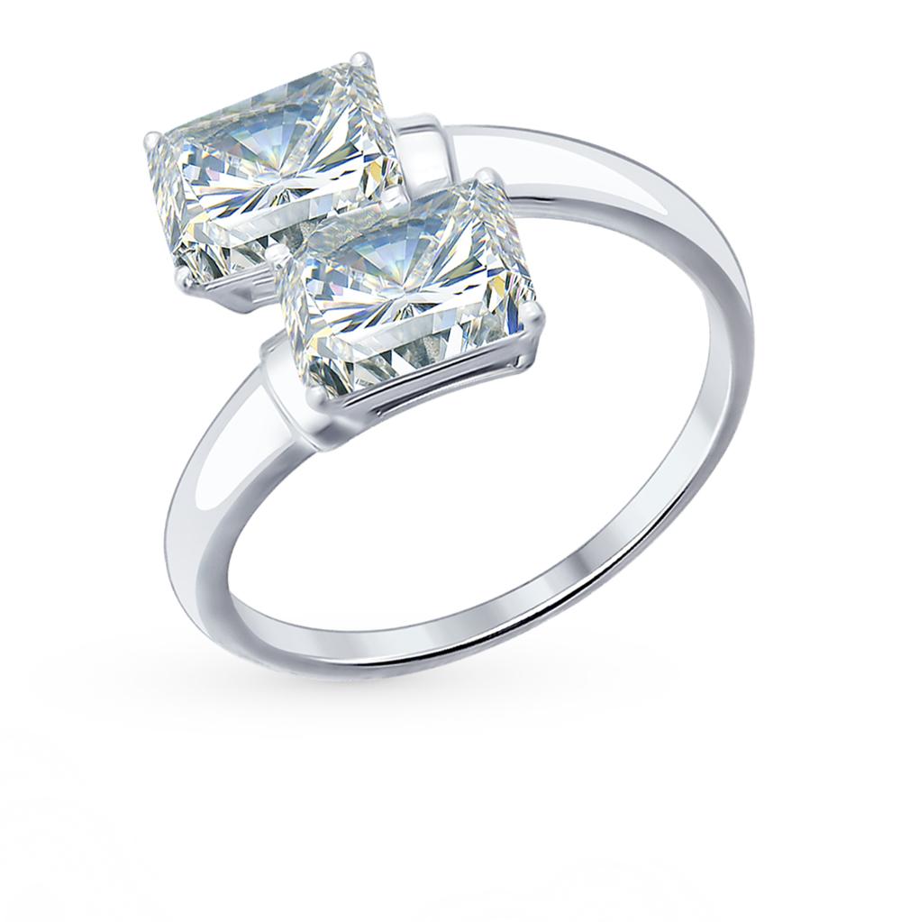Серебряное кольцо с фианитами SOKOLOV 94012075 в Екатеринбурге