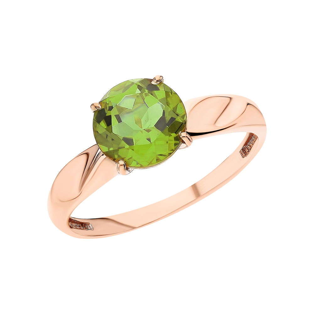 Золотое кольцо с султанитами синтетическими в Санкт-Петербурге