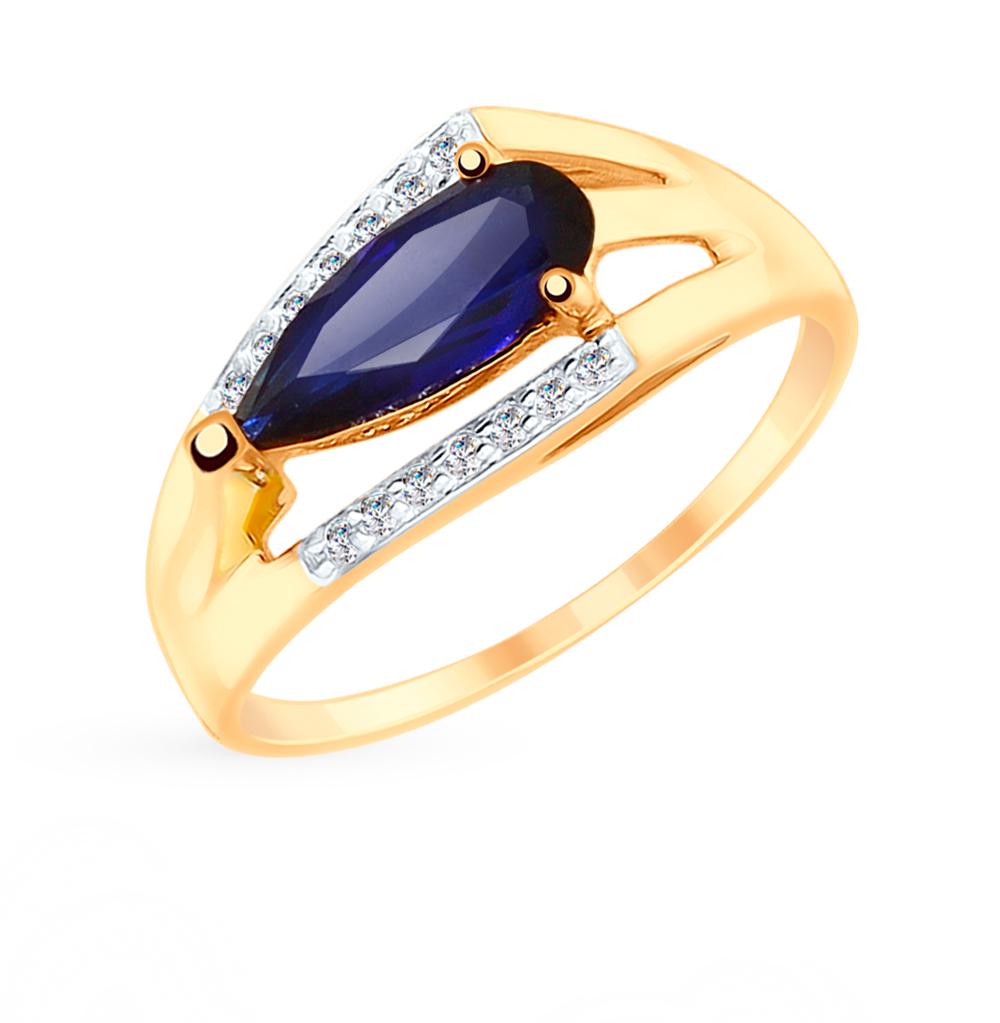 Золотое кольцо с корундом SOKOLOV 715249* в Екатеринбурге