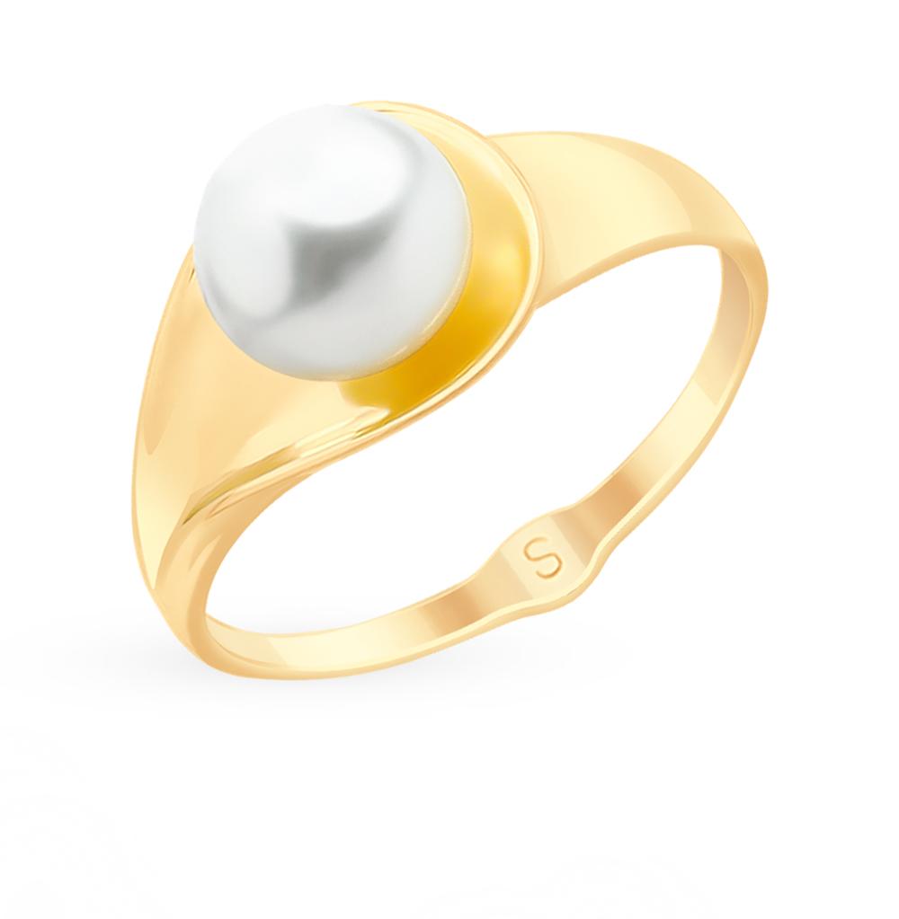 золотое кольцо с жемчугом SOKOLOV 791099*