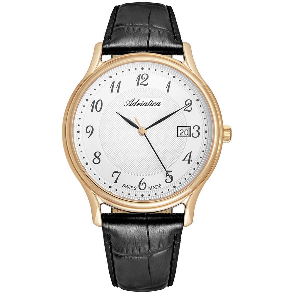 Фото «Мужские часы A8000.1223Q на кожаном ремешке с сапфировым стеклом»