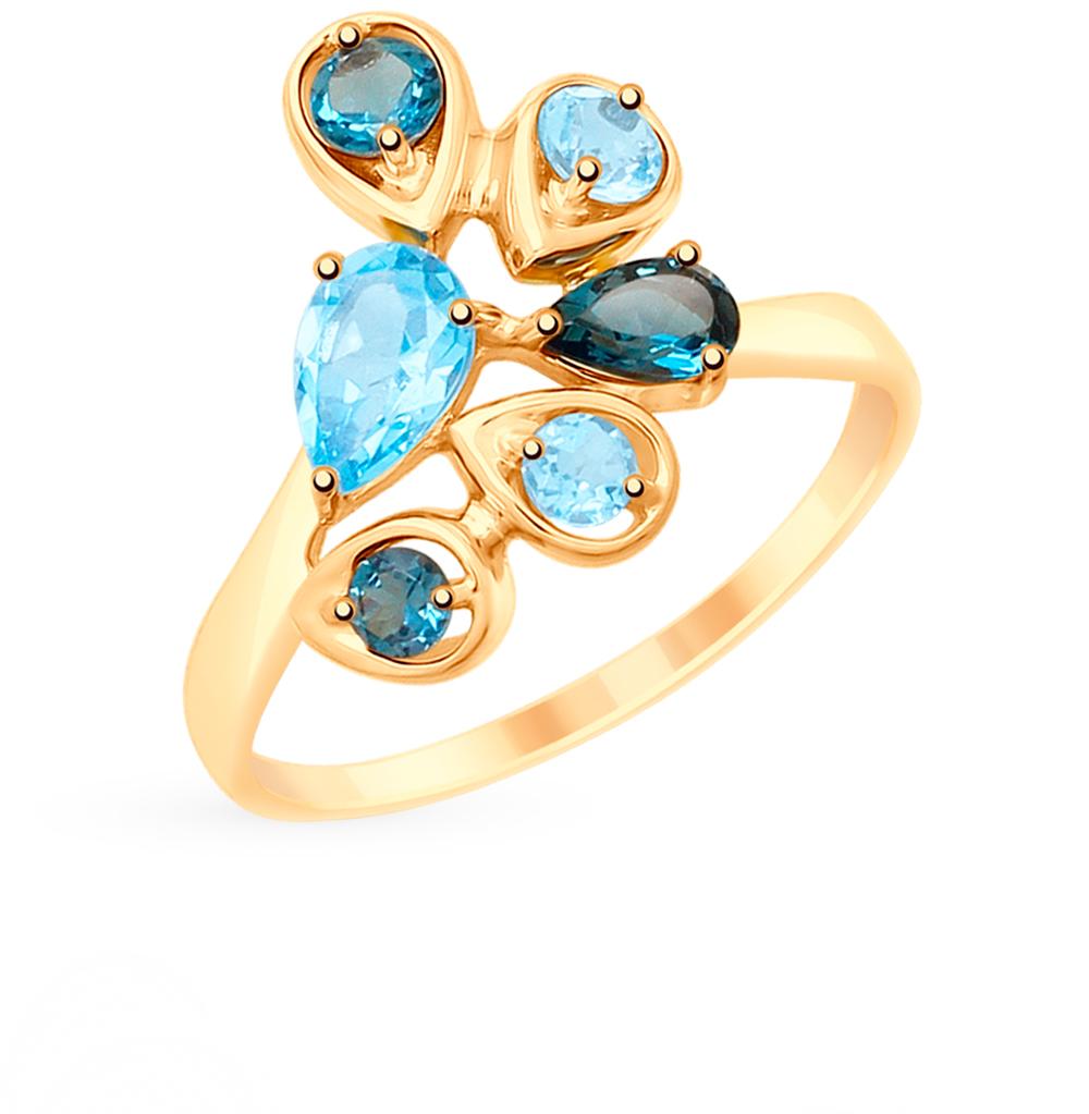 Фото «Золотое кольцо с топазами SOKOLOV 715230*»