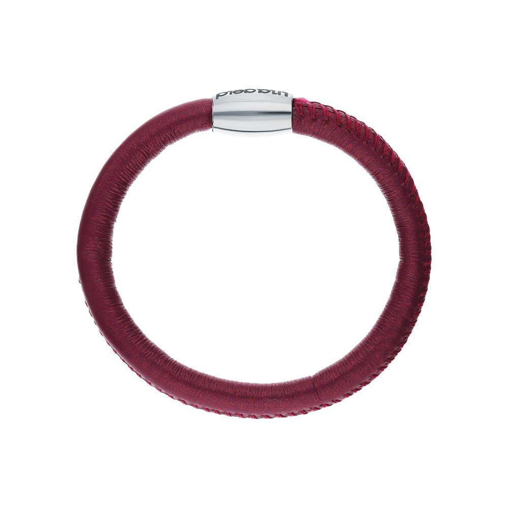 Фото «Кожаный браслет со стальной вставкой»