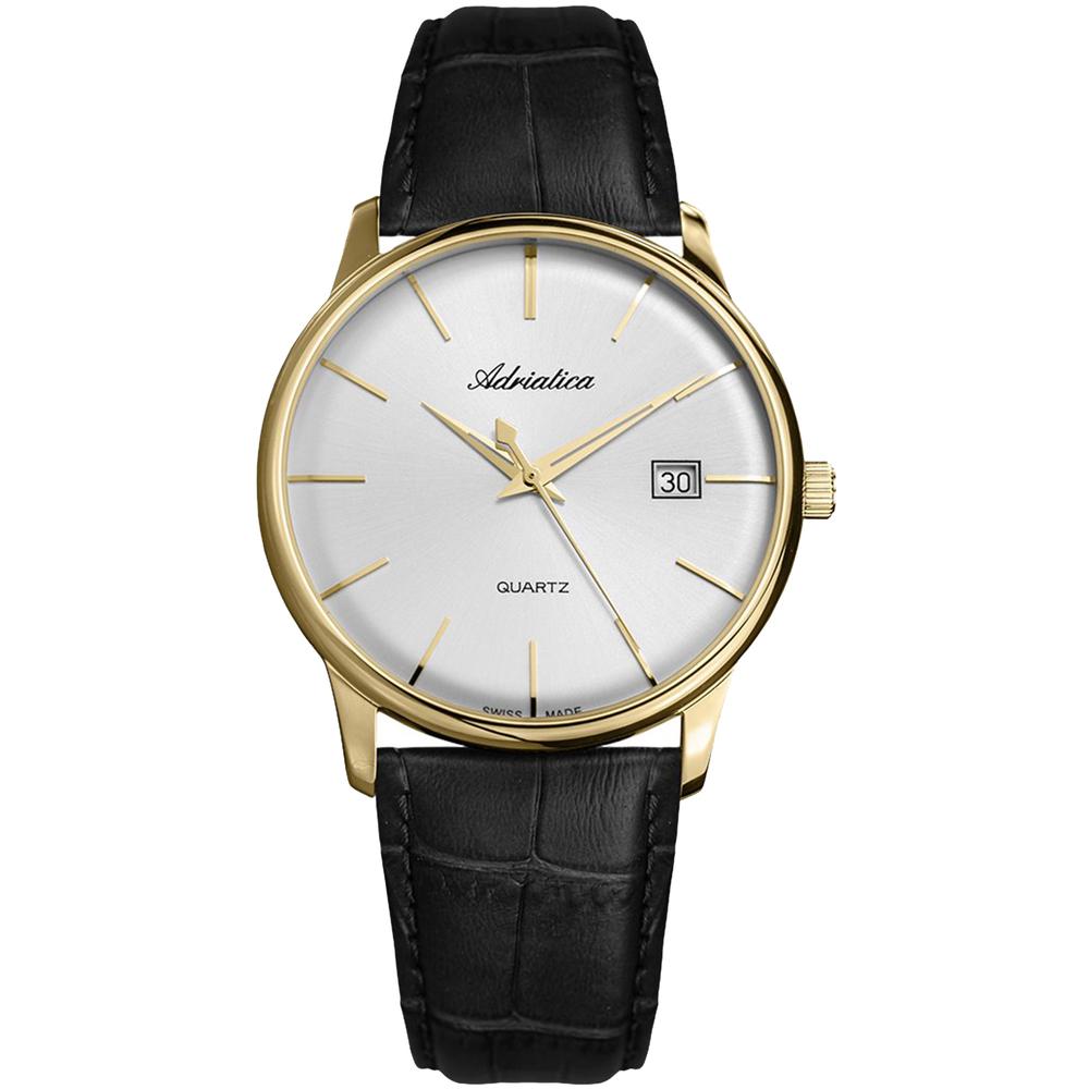 Мужские часы A8242.1213Q на кожаном ремешке с минеральным стеклом
