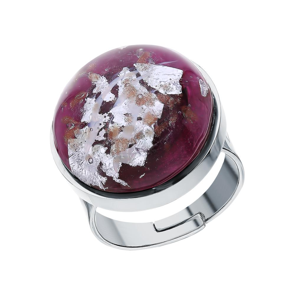 Фото «Стальное кольцо с муранскими стёклами»