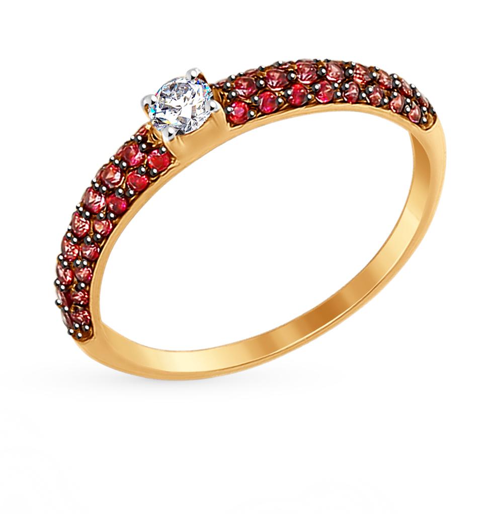 Золотое кольцо с фианитами SOKOLOV 017386* в Екатеринбурге