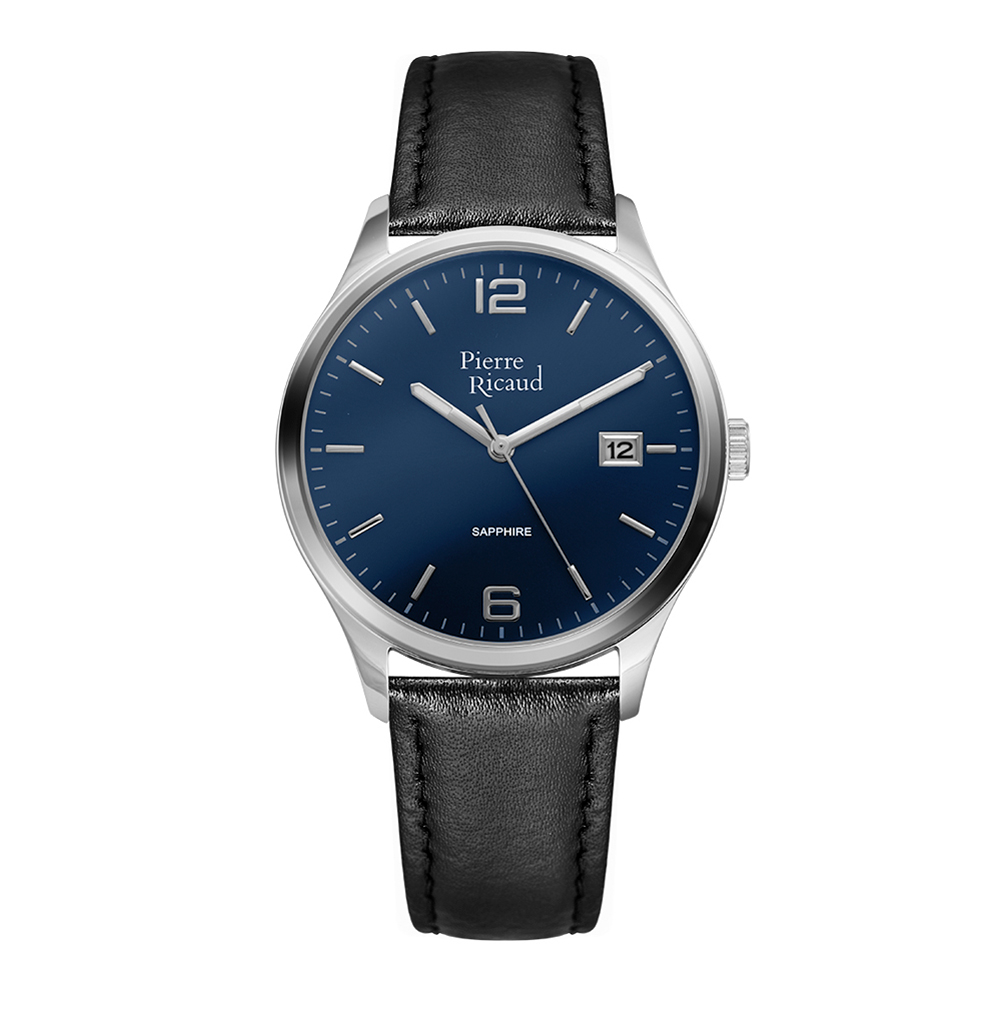 Мужские часы P91086.5255Q на кожаном ремешке с сапфировым стеклом