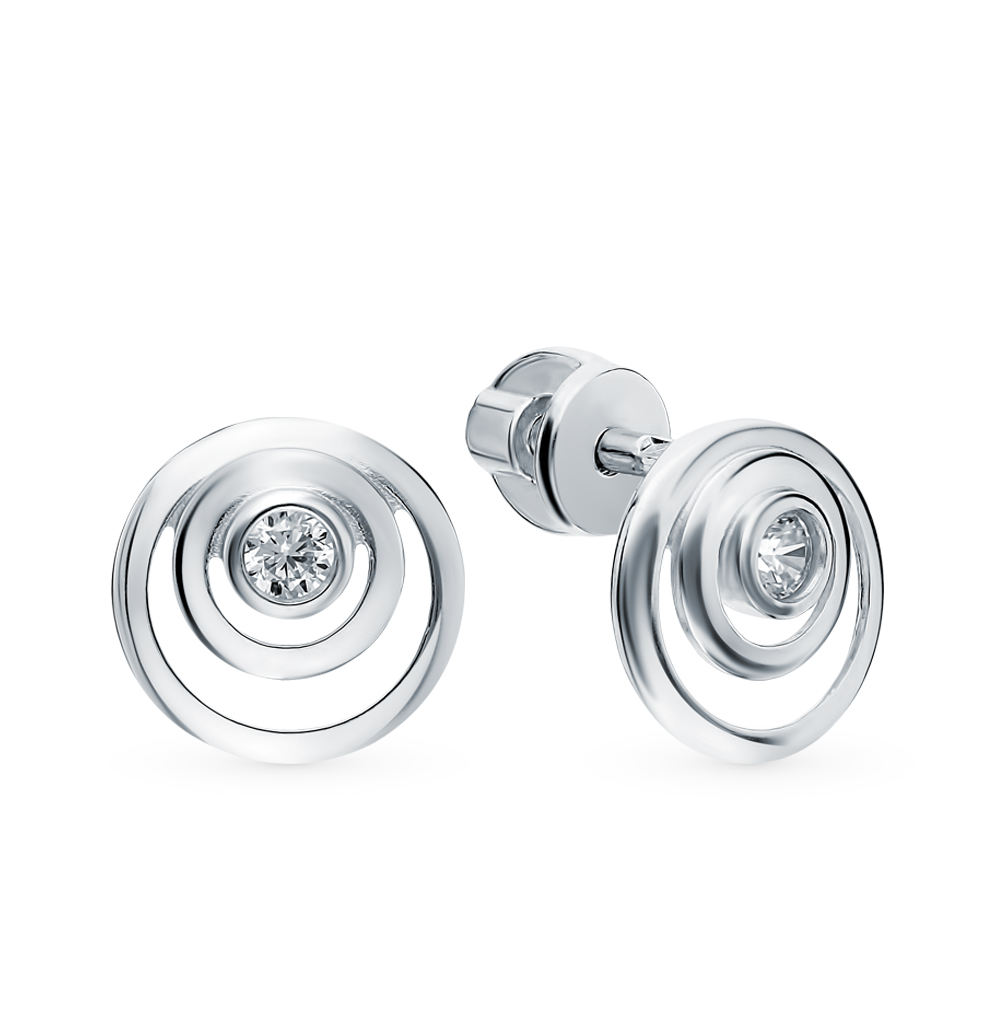 серебряные серьги с фианитами SOKOLOV 94023005