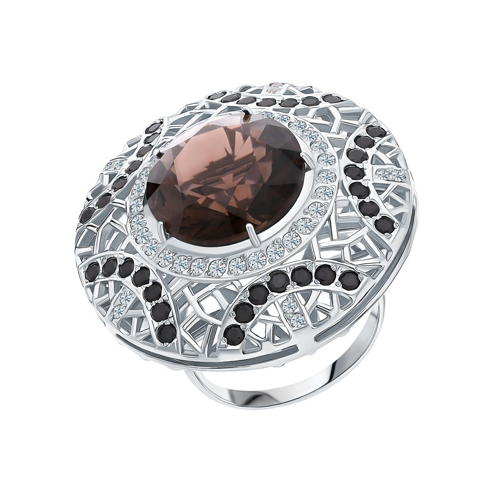 Серебряное кольцо с фианитами и наношпинелями в Екатеринбурге
