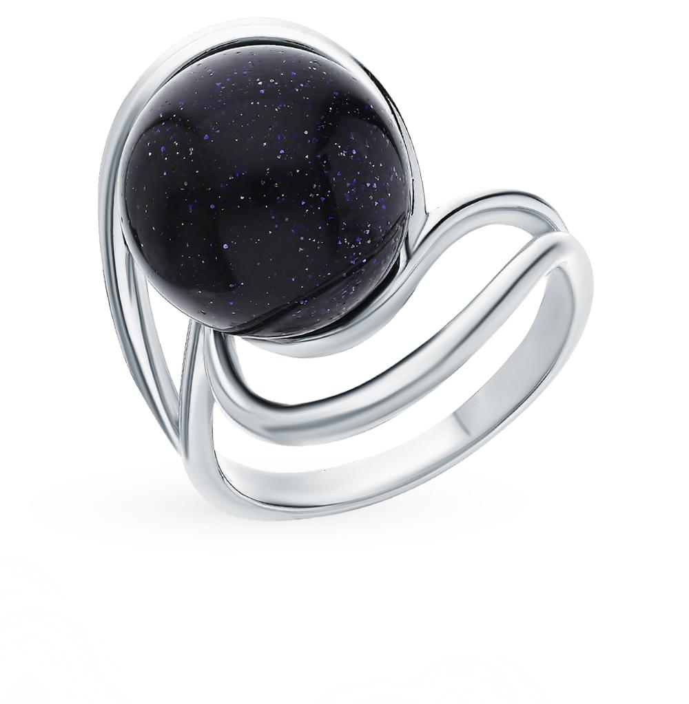 Серебряное кольцо с керамикой и авантюрином в Екатеринбурге