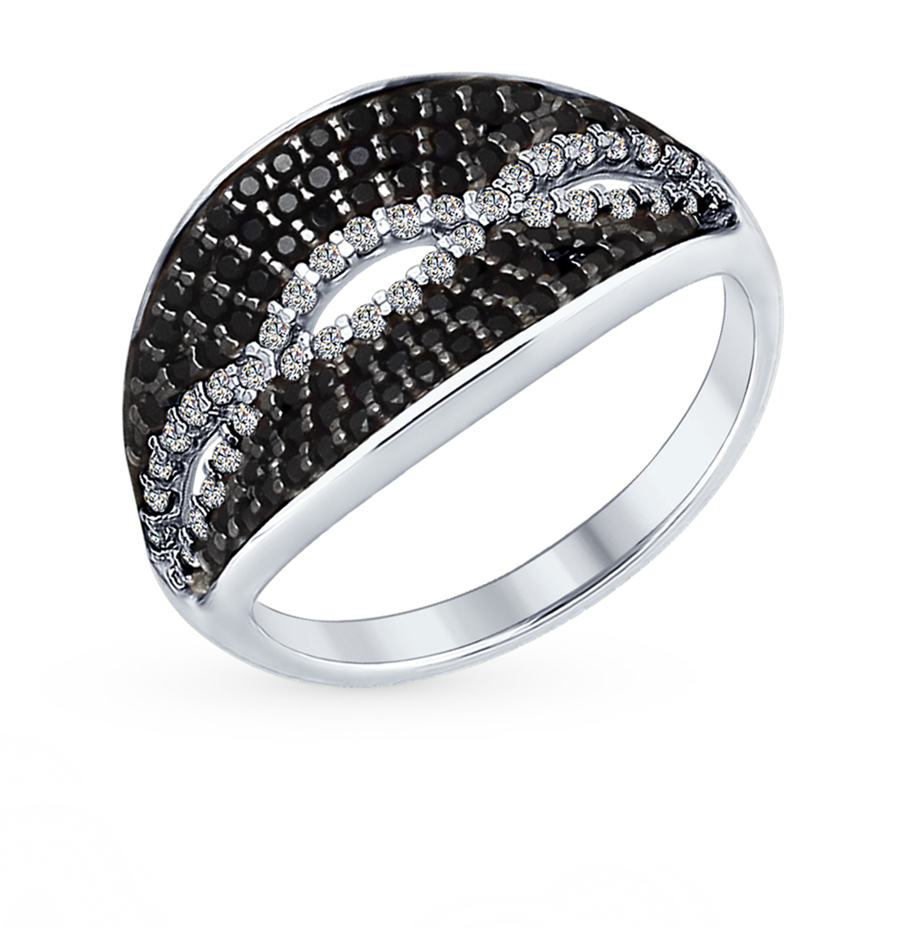 Фото «Серебряное кольцо с фианитами SOKOLOV 94012357»