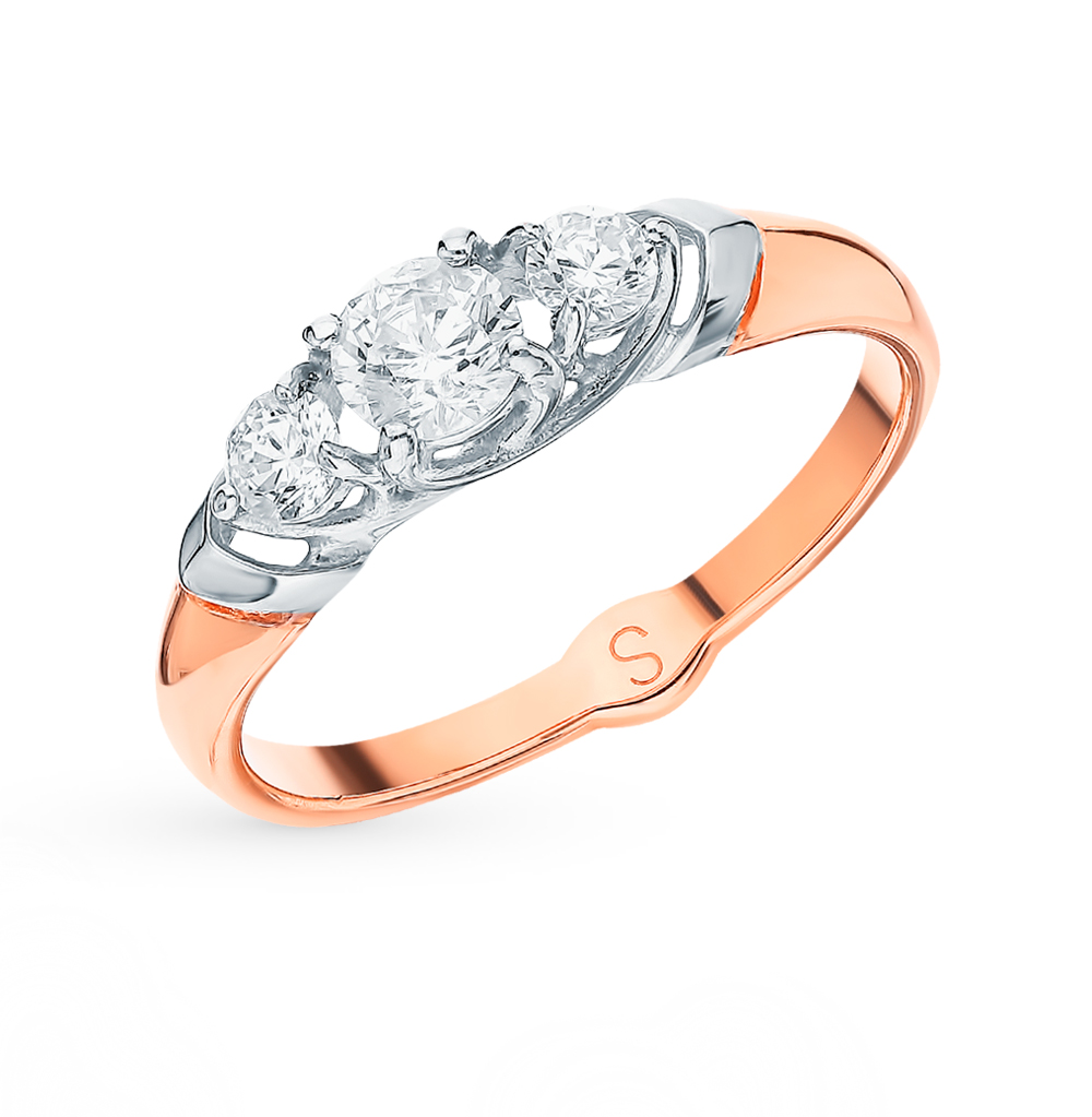 Фото «Золотое кольцо с фианитами SOKOLOV 017926*»