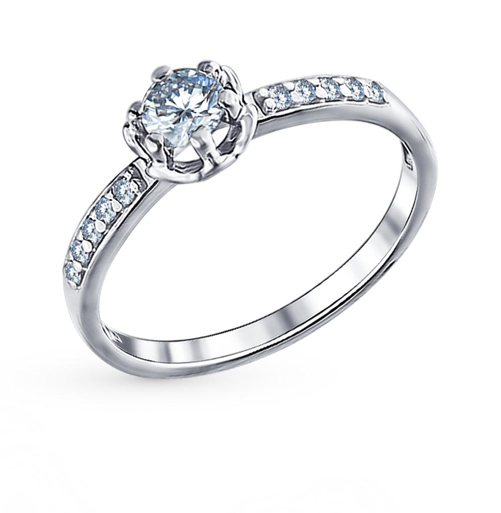 серебряное кольцо с фианитами SOKOLOV 94011264
