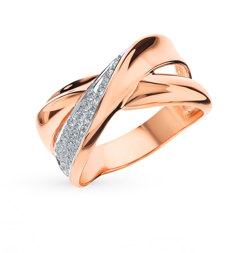 Золотое кольцо с фианитами SOKOLOV 018557* в Екатеринбурге