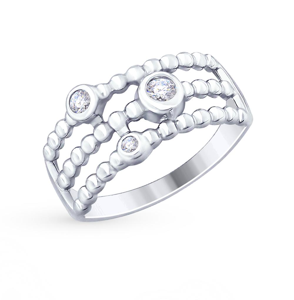серебряное кольцо с фианитами SOKOLOV 94012483