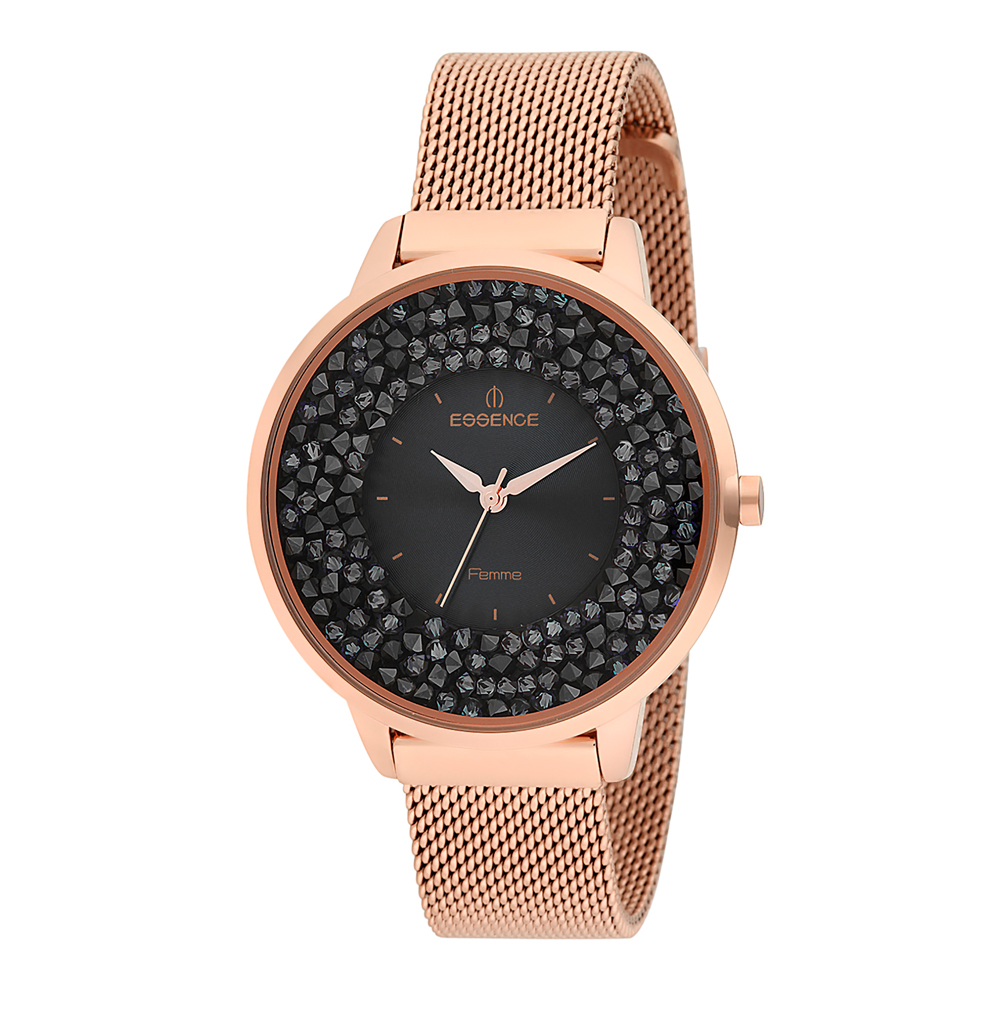 Фото «Женские часы D987.440 на стальном браслете с розовым IP покрытием с минеральным стеклом»