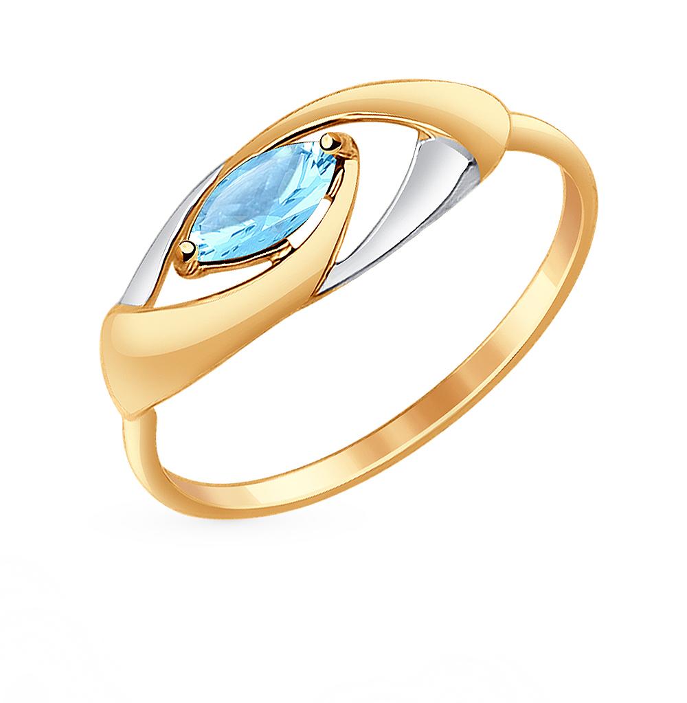 золотое кольцо с топазами SOKOLOV 714633*