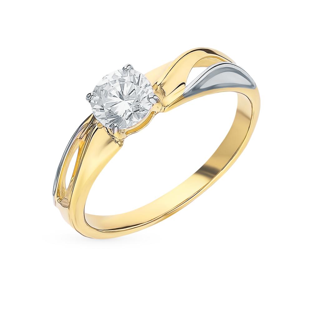 Фото «Золотое кольцо с фианитами SOKOLOV 018321-2*»