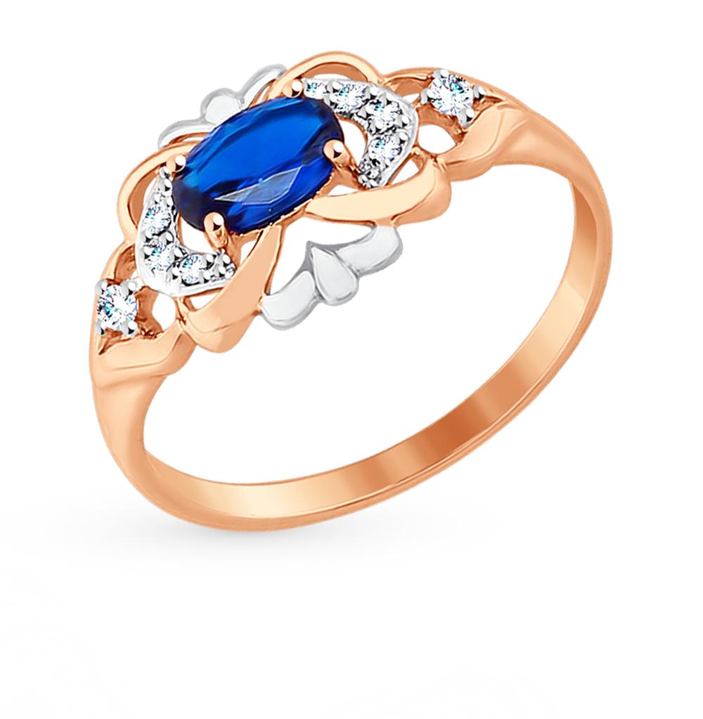 золотое кольцо с фианитами SOKOLOV 017511