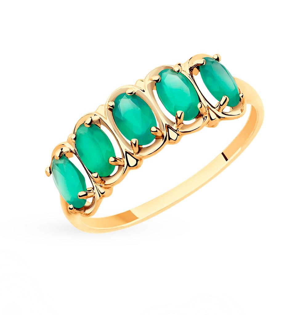 золотое кольцо с агатом SOKOLOV 715446*
