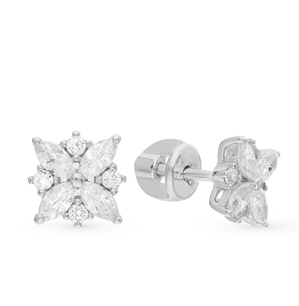 серебряные серьги с фианитами SOKOLOV 94021970
