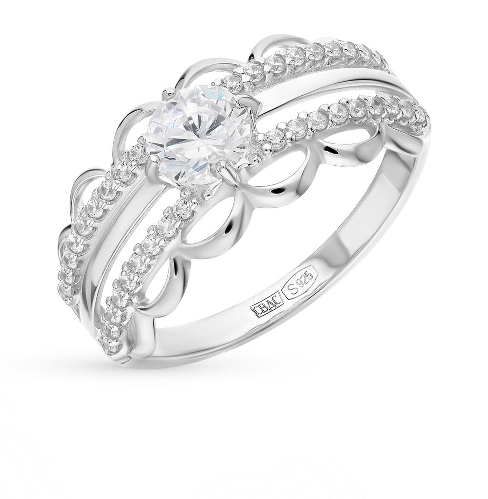 серебряное кольцо с фианитами SOKOLOV 94012240