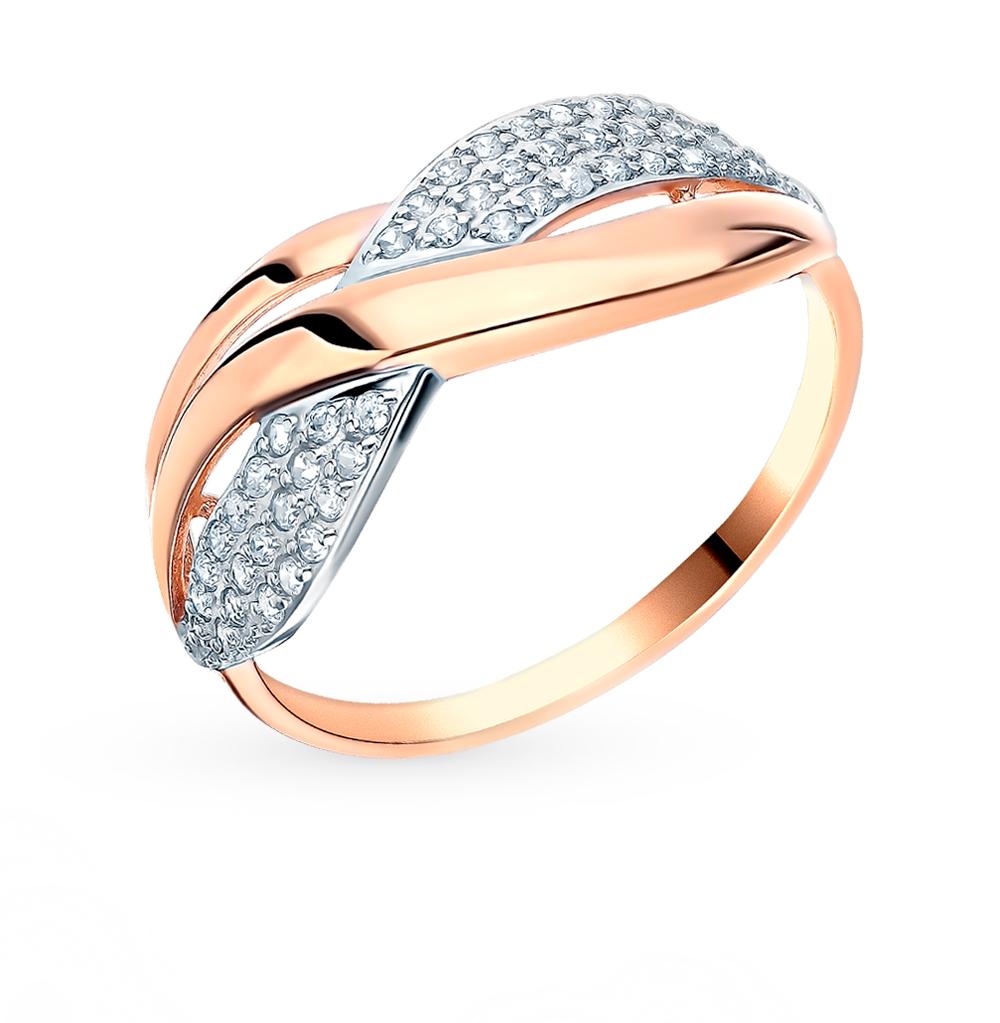 Фото «Золотое кольцо с фианитами SOKOLOV 018459*»